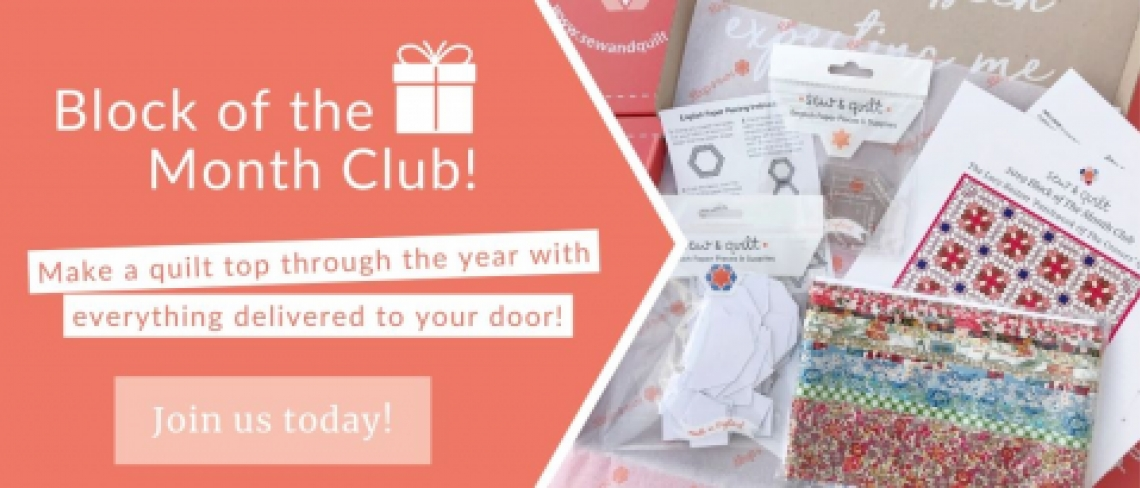 Block of the Month Club Quilting Subscription program