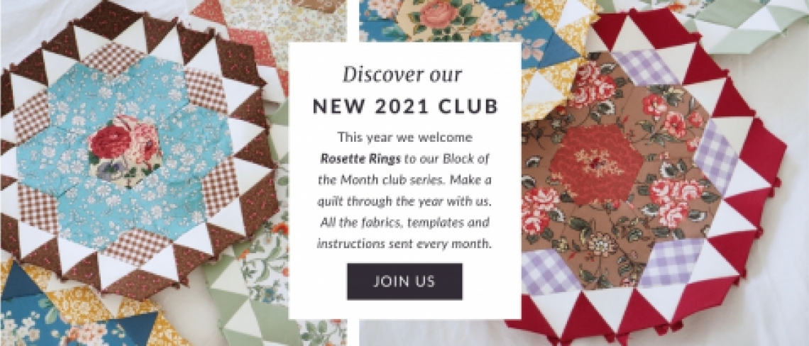Rosette Rings Sew & Quilt block of the month club