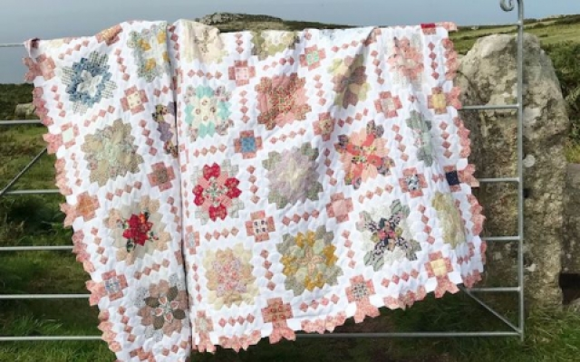 Patchwork of the Crosses quilt Sew and Quilt club