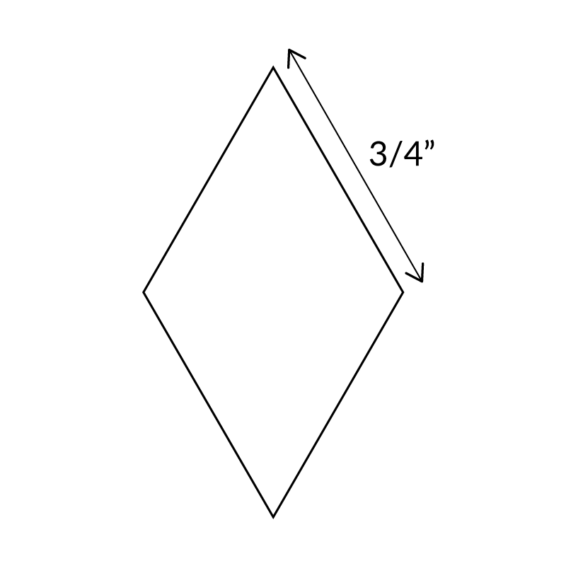 "3/4"" 6-Point-Diamond-English-Paper-Pieces"