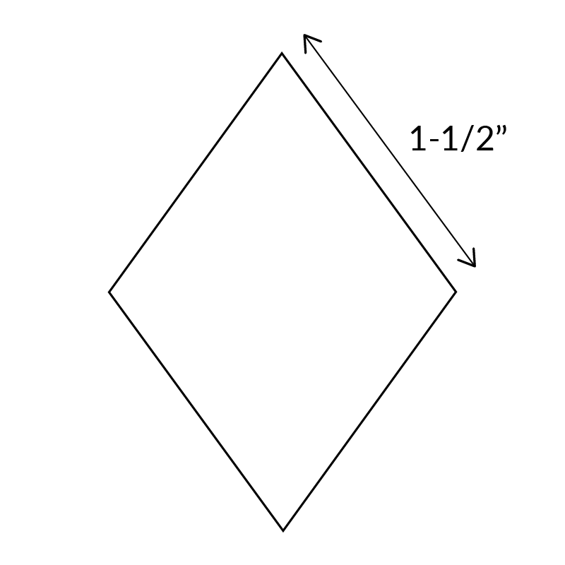 "1.1/2"" 5-point-diamond-english-paper-pieces"