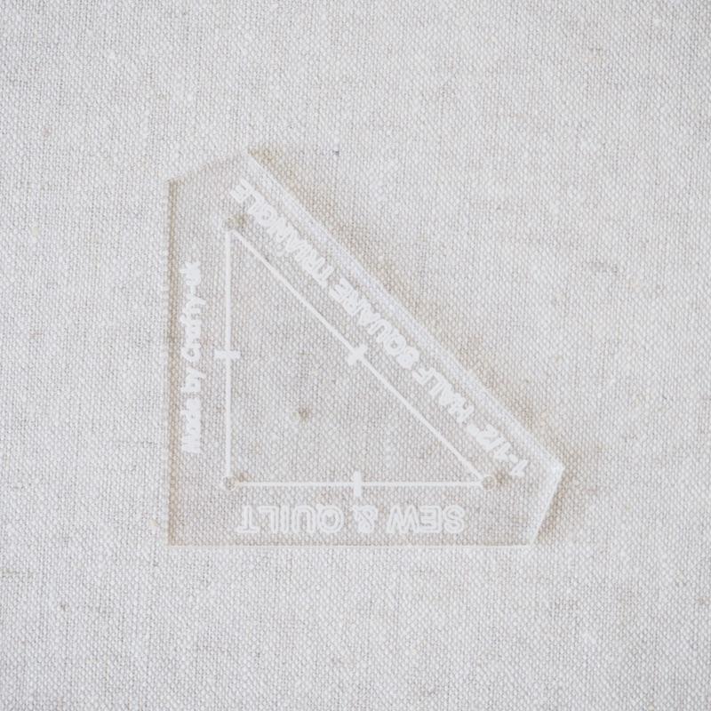 "Acrylic Cutting Template 1-1/2"" Half Square Triangle"