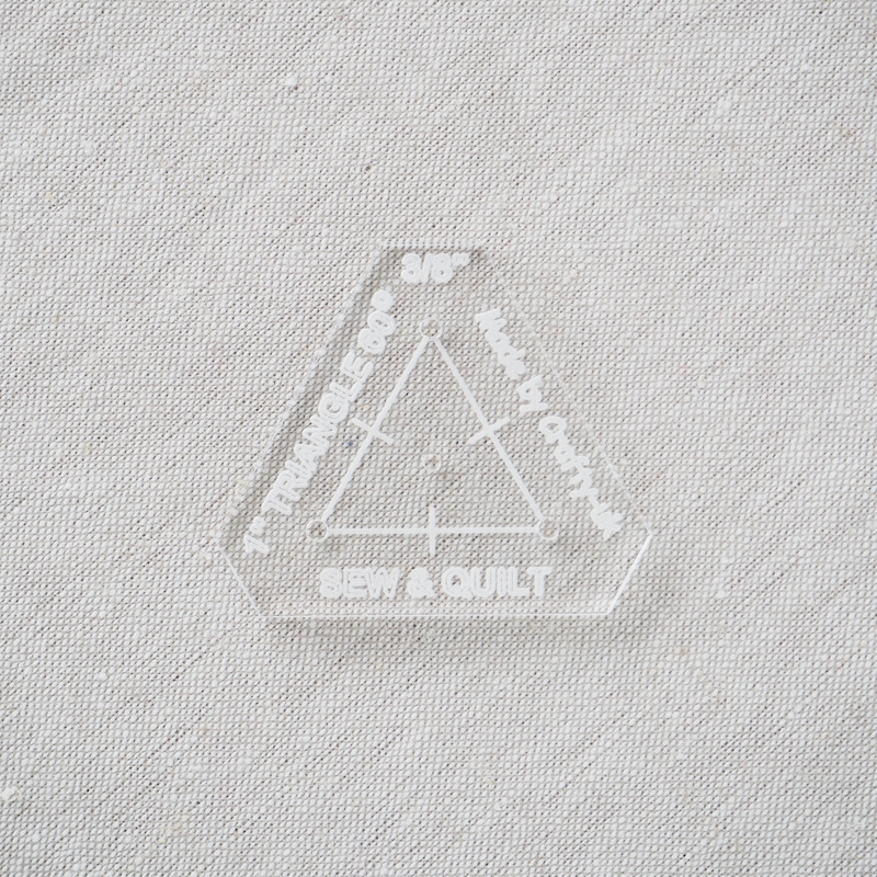 "Acrylic Cutting Template 1"" Equilateral Triangle"