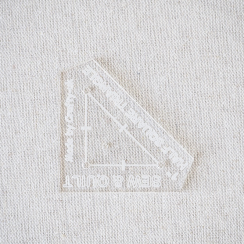 "Acrylic Cutting Template 1"" Half Square Triangle"