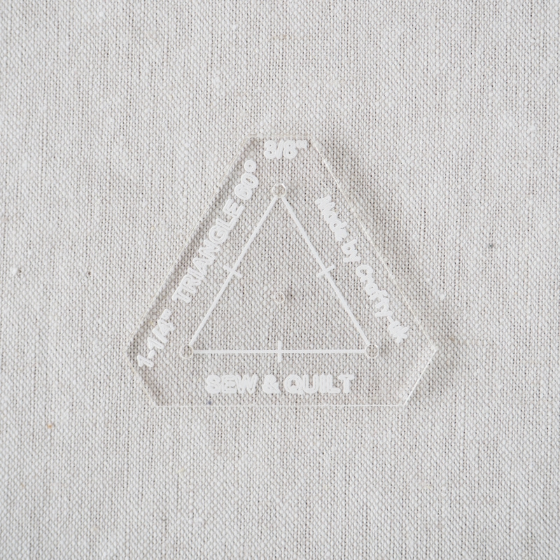 """Acrylic Cutting Template 1-1/4"""" Equilateral Triangle"""