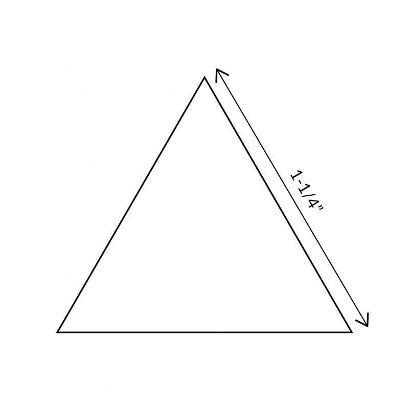 """English Paper Pieces 1-1/4"""" Equilateral Triangle"""