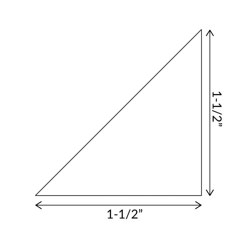 """English Paper Pieces 1-1/2"""" Half Square Triangle"""