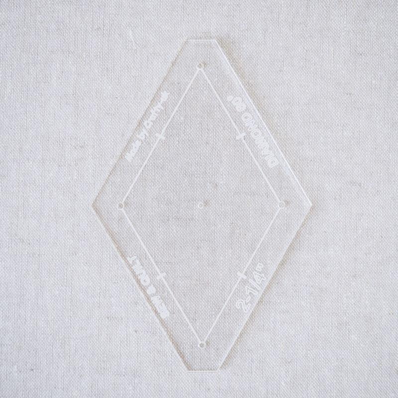 "Acrylic Cutting Template 2-1/4"" 6-Point Diamond"
