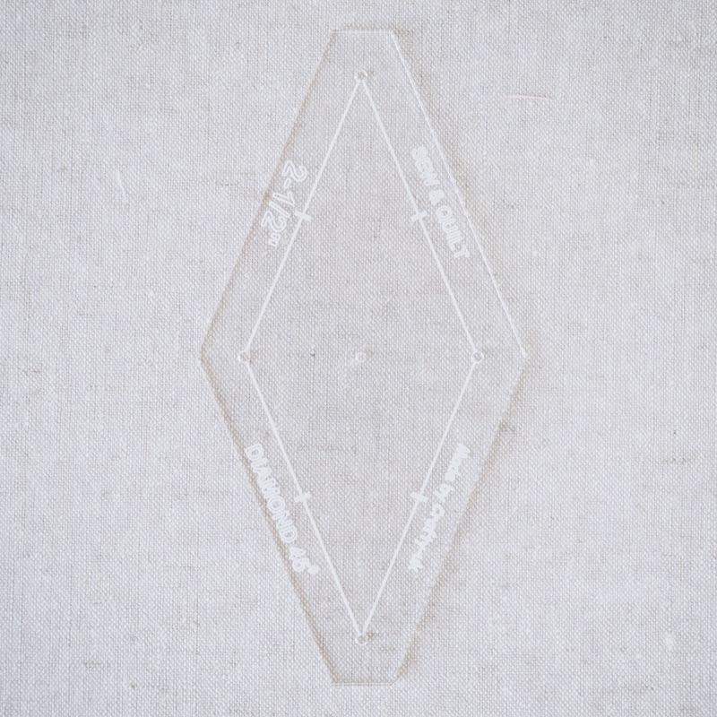 "Acrylic Cutting Template 2-1/2"" 8-Point Diamond"