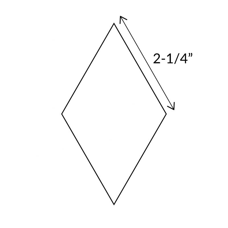"English Paper Pieces 2-1/4"" 6-Point Diamond"