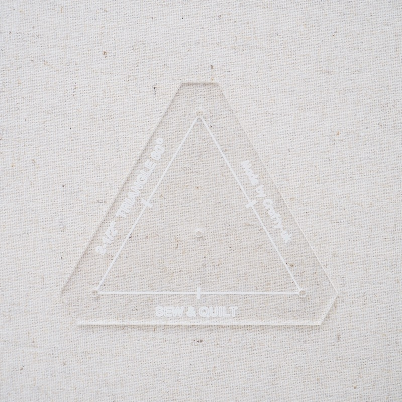 "Acrylic Cutting Template 2-1/2"" Equilateral Triangle"