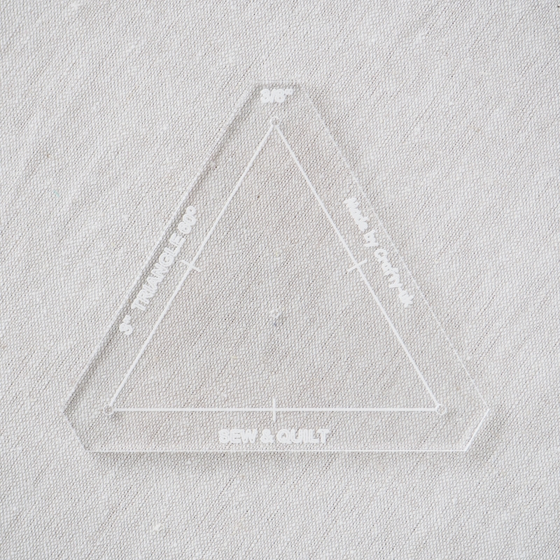 """Acrylic Cutting Template 3"""" Equilateral Triangle"""