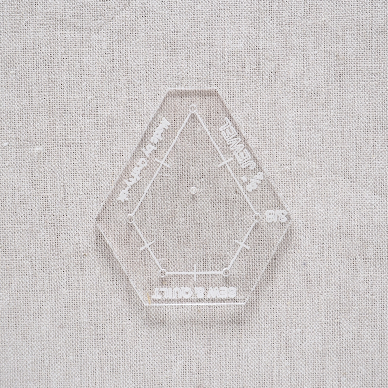 "Acrylic Cutting Template 3/4"" x 1-1/2"" Jewel"
