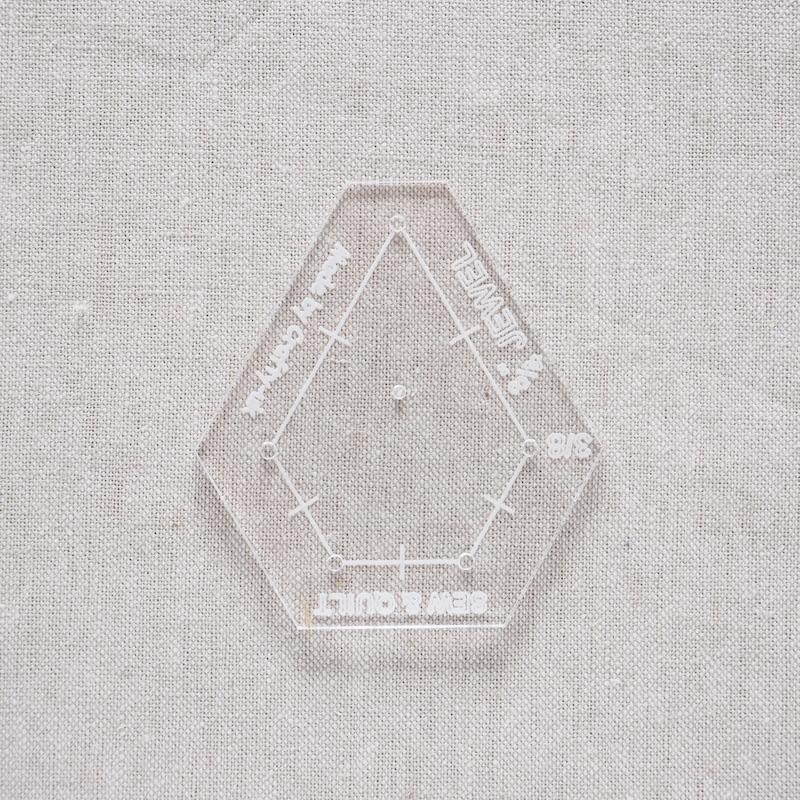 """Acrylic Cutting Template 3/4"""" x 1-1/2"""" Jewel"""