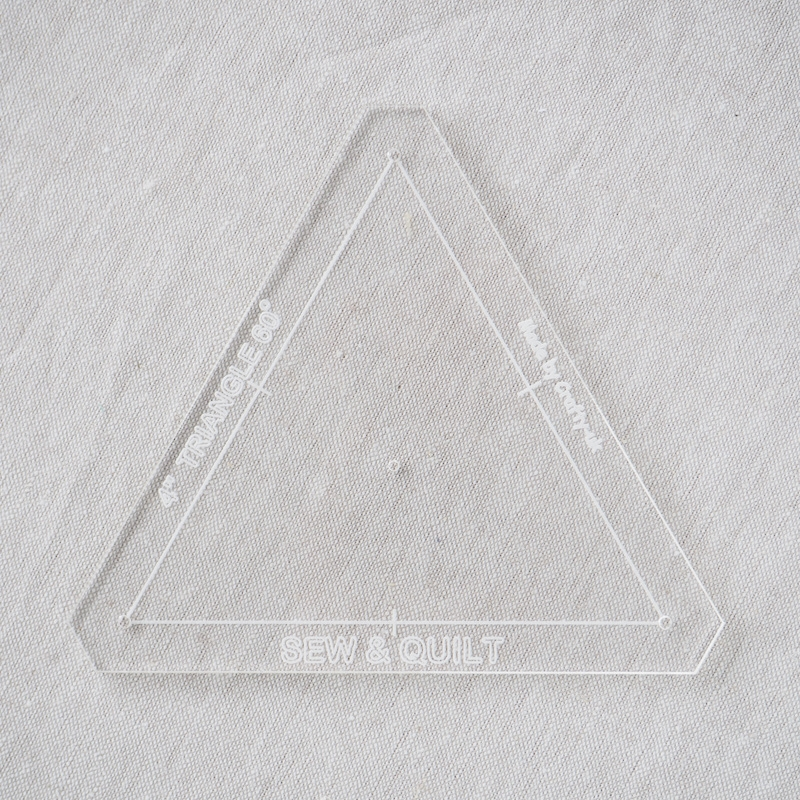 "Acrylic Cutting Template 4"" Equilateral Triangle"