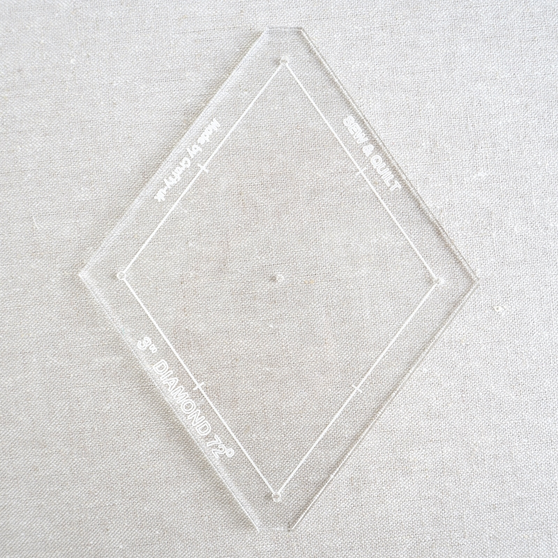 "Acrylic Cutting Template 3"" 5-Point Diamond"