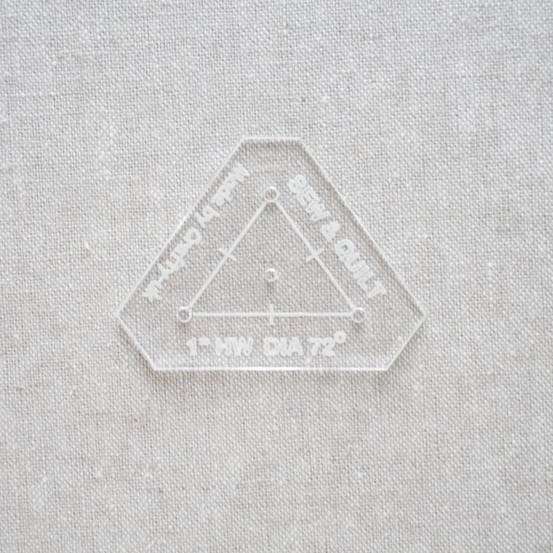 "Acrylic Cutting Template 1"" HW 5-Point Diamond"