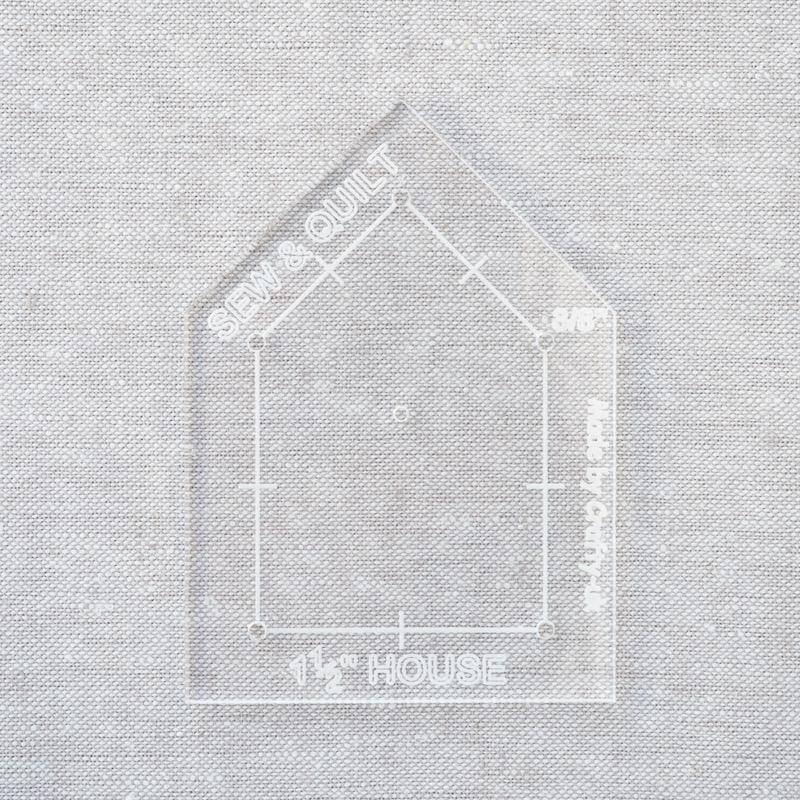 Acrylic-cutting-template-House-EPP