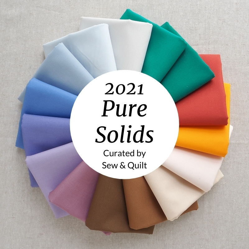 Art Gallery Fabrics Pure Solids New 2021 Colours fat quarter bundle