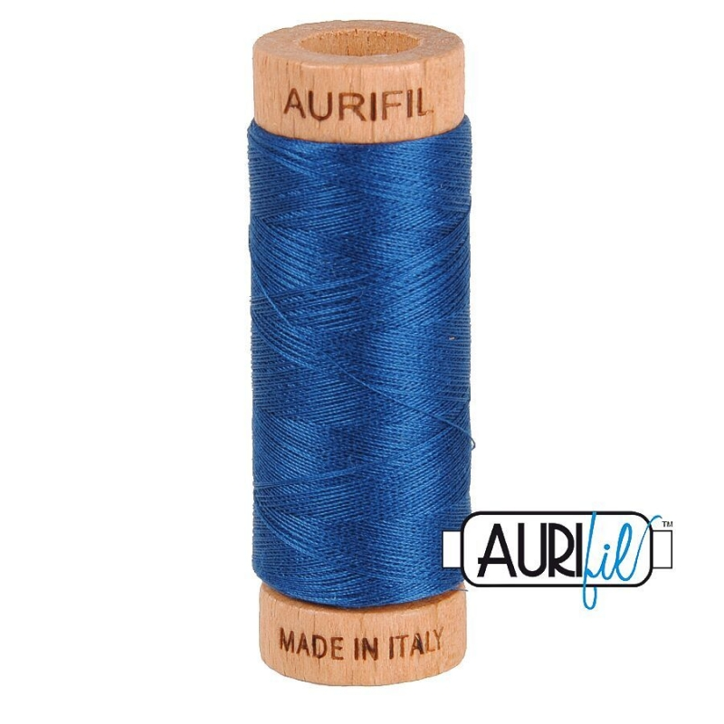 Aurifil 80wt Cotton Thread, Medium Delft Blue #2783