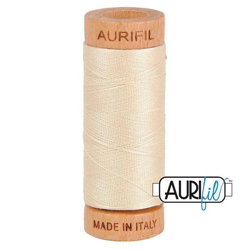 Aurifil 80wt Cotton Thread, Light Beige #2310