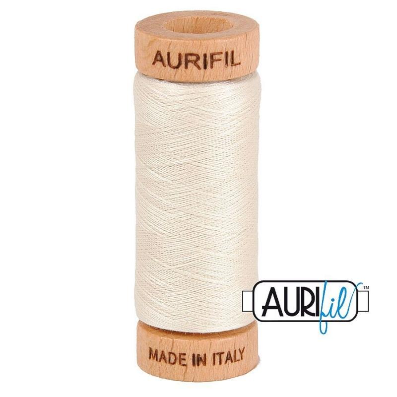 Aurifil 80wt Cotton Thread, Silver White #2309