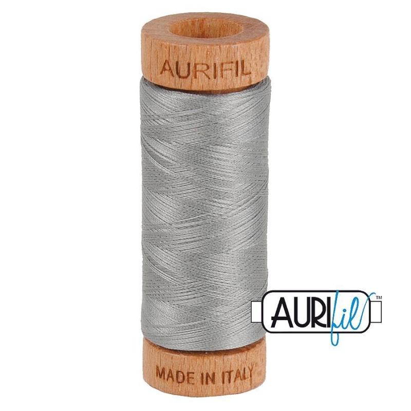 Aurifil 80wt CottonThread, Stainless Steel #2620