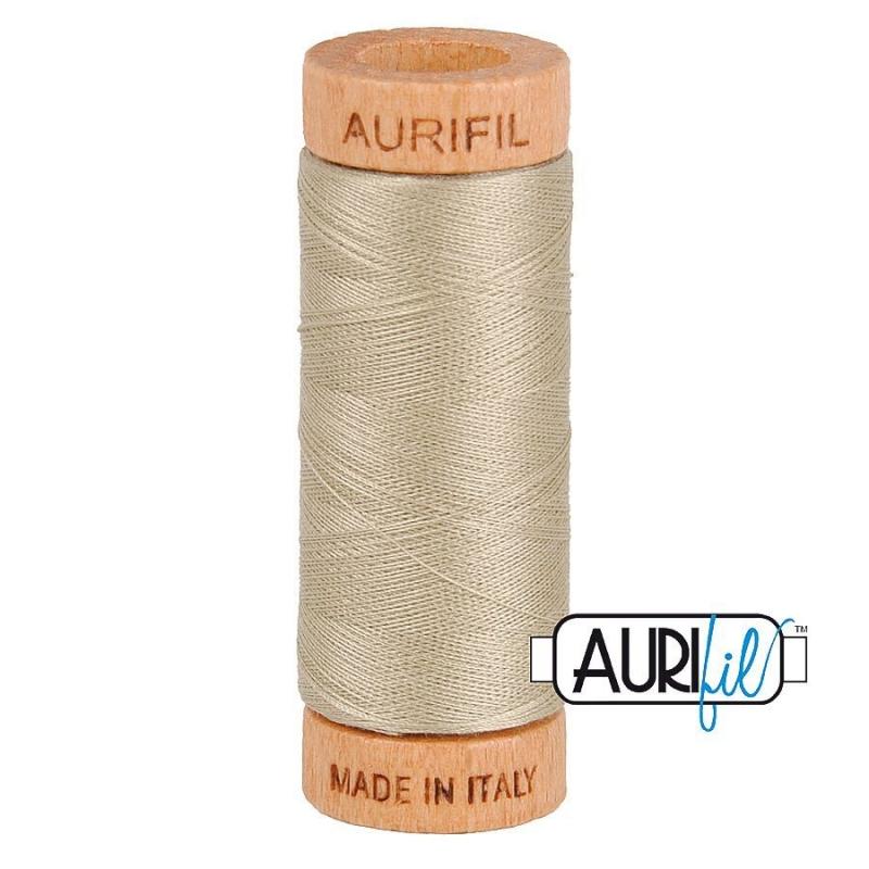 Aurifil 80wt Cotton Thread, Stone #2324