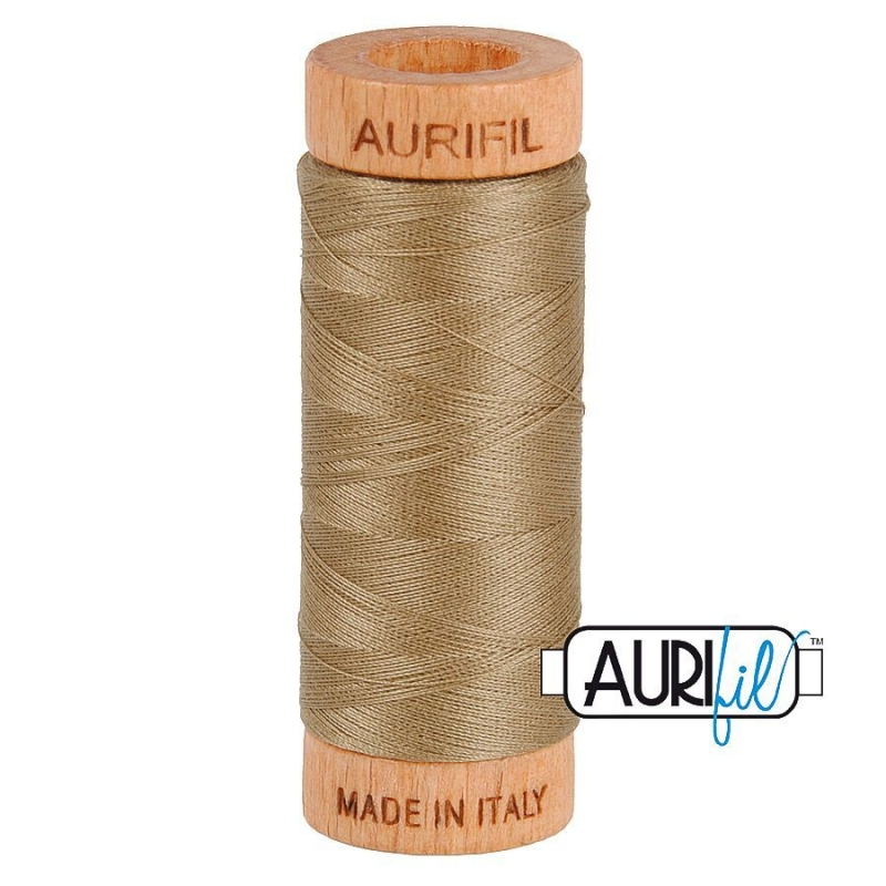 Aurifil 80wt Cotton Thread, Sandstone #2370