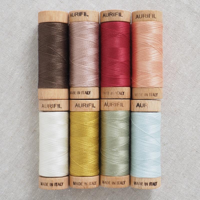 Aurifil 80wt Cotton Thread Rosette Rings Quilt