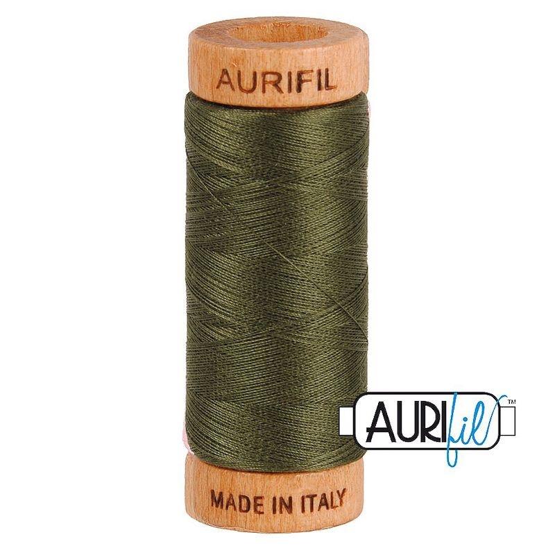 Aurifil 80wt Dark Green #5012 - 100% Cotton Thread