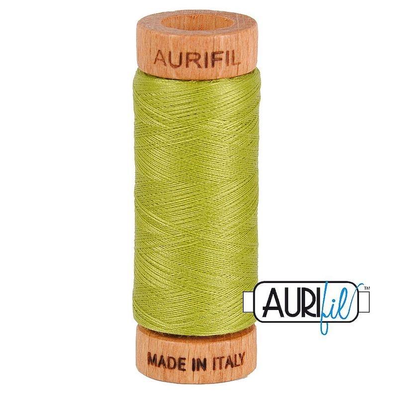 Aurifil 80wt Light Leaf Green #1147 - 100% Cotton Thread