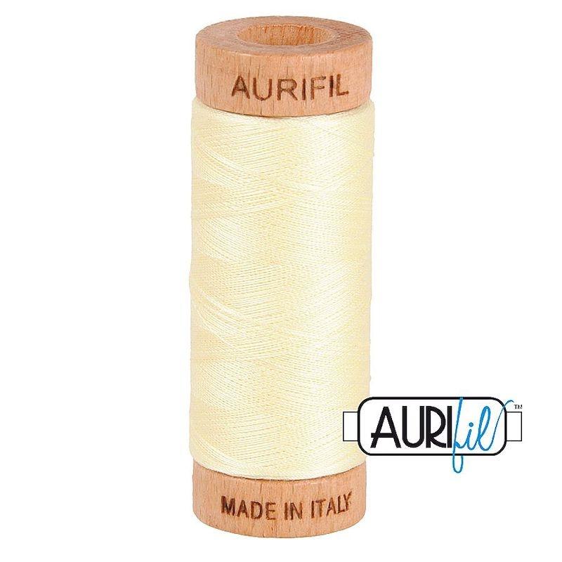 Aurifil 80wt Light Lemon #2110 - 100% Cotton Thread
