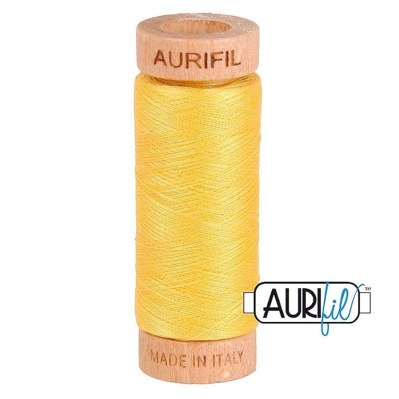 Aurifil 80wt Pale Yellow #1135 - 100% Cotton Thread