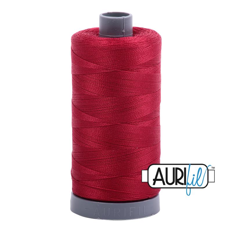 Aurifil 28wt Cotton Thread, Red Wine #2260