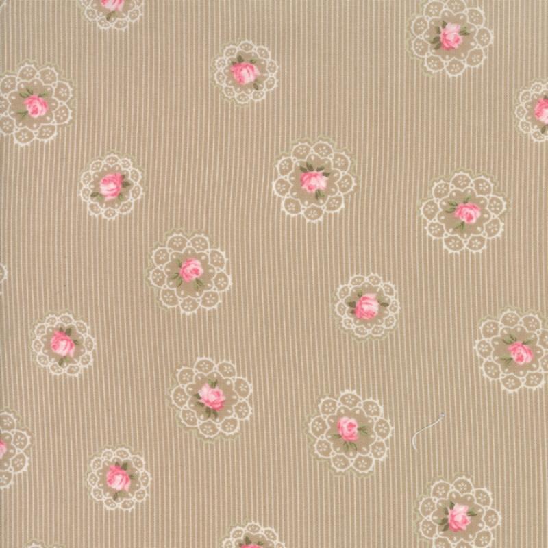 Caroline Oatmeal Daily Roses 18652-16