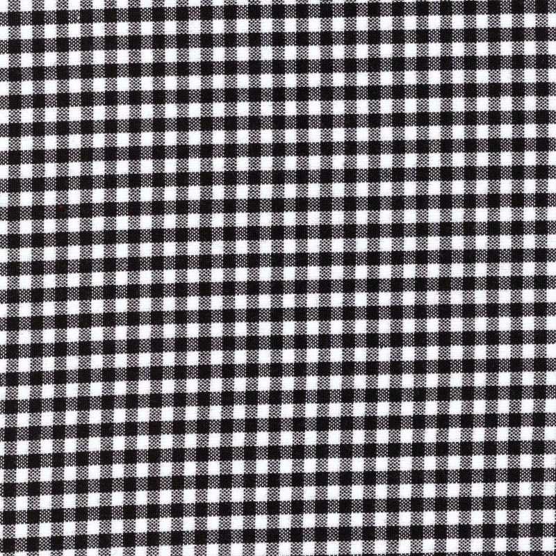 """Carolina Gingham black and white 1/8"""" check size quilting cotton"""