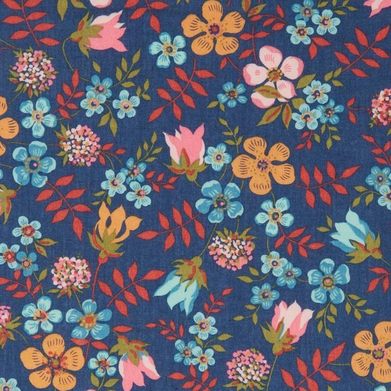 Liberty Edenham U blue Tana Lawn Cotton