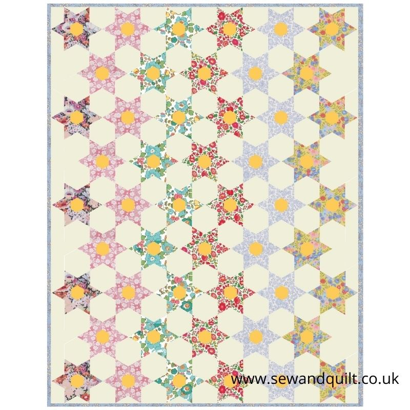 English paper Piecing quilt pattern and kit