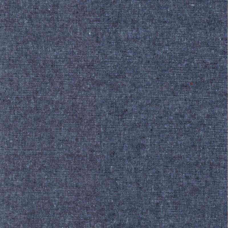 Essex Linen Yarn Dyed Nautical | E064-412 dark blue cotton linen mix fabric