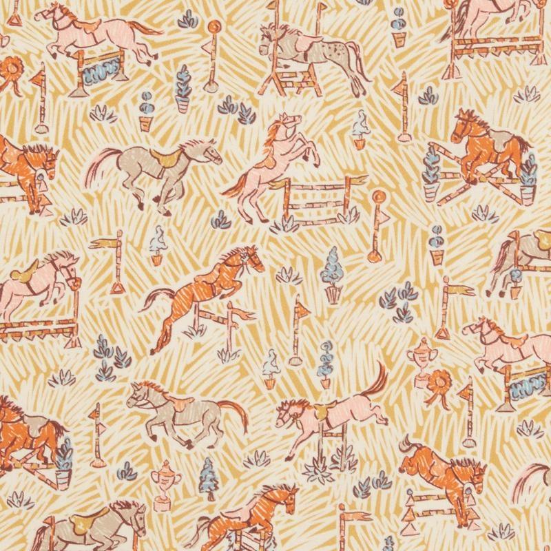 Gymkhana-Yellow-Liberty-Tana-Lawn-Cotton-fabric