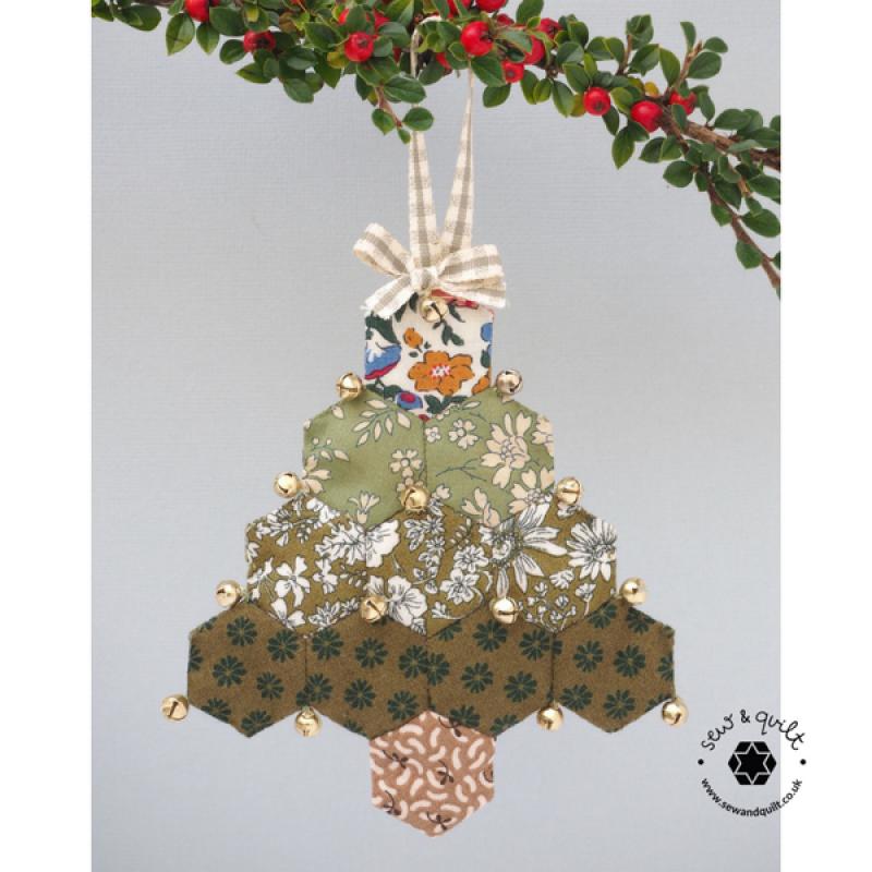 Hexagon-Liberty-christmas-decorations-handmade-PAPER-PIECED