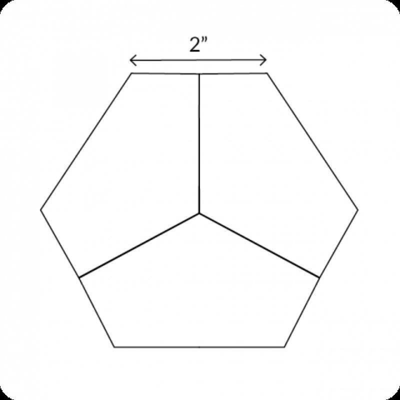 English-Paper-Pieces-2-Hexagon-Third