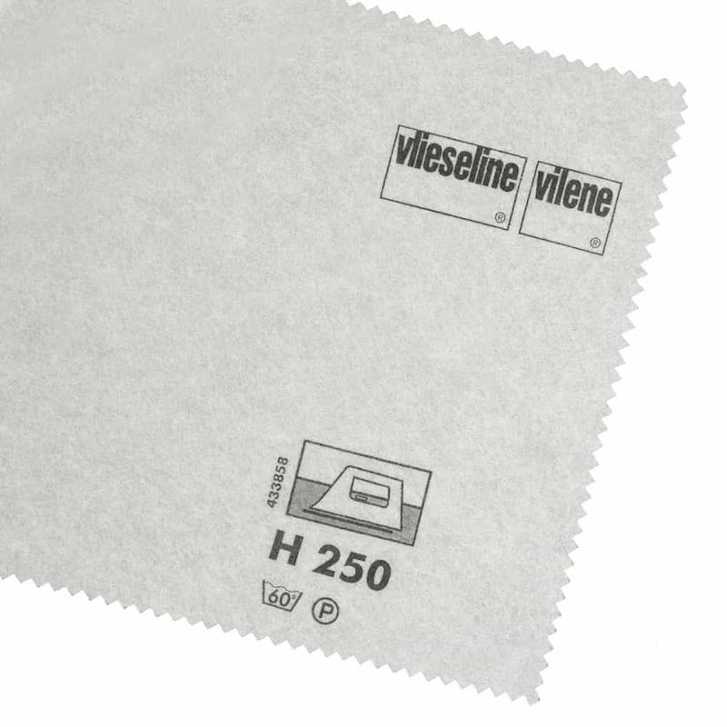 Firm weight iron on interfacing for sewing and dressmaking