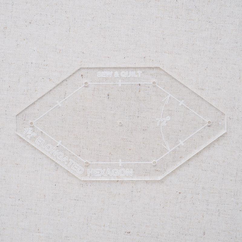 "Acrylic Cutting Template 1-1/2"" Irregular Honeycomb"