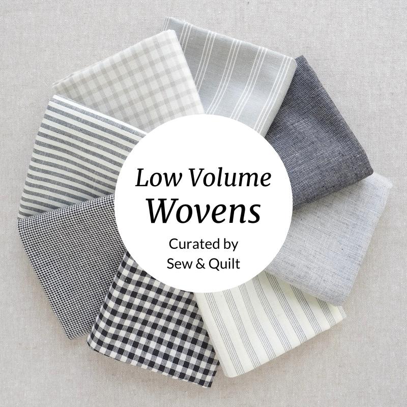 Low Volume Wovens cotton fabric Fat Quarter Bundle