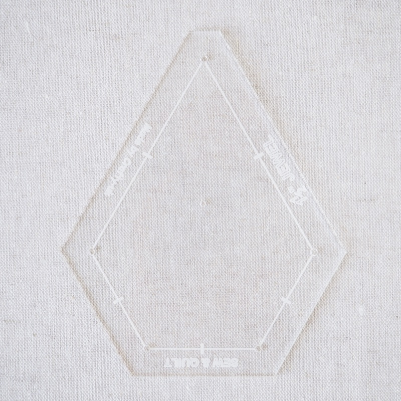 "Acrylic Cutting Template 1-1/2"" x 3"" Jewel"