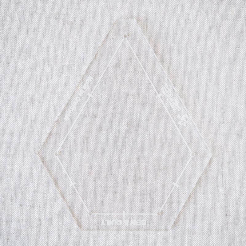 """Acrylic Cutting Template 1-1/2"""" x 3"""" Jewel"""
