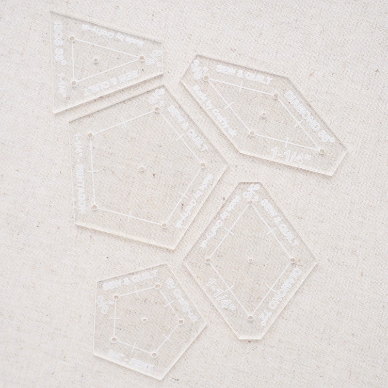 La Passacaglia quilt cutting template set