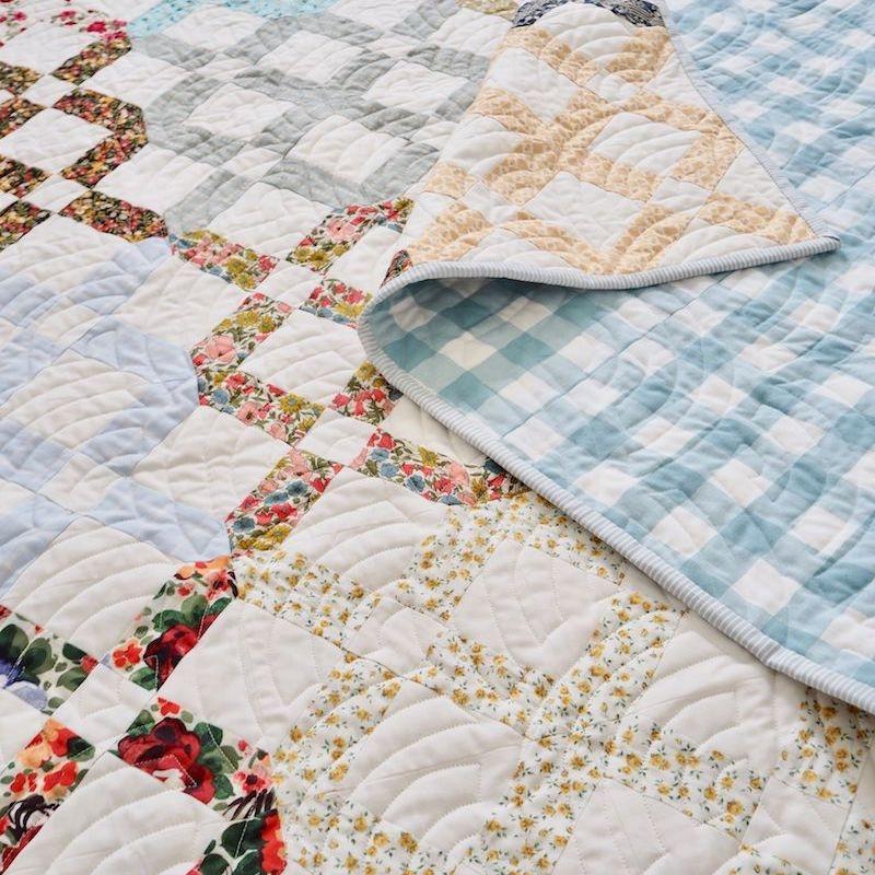 Lattice Garden machine pieced quilt pattern by Jessie Fincham back cover